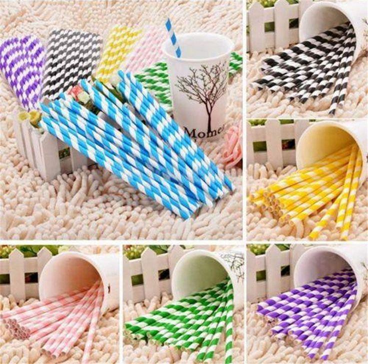 Горячая распродажа 25 шт. красочные бумажные соломинки для рождения детей ну вечеринку свадебные украшения бумаги соломинкой бесплатная доставка купить на AliExpress