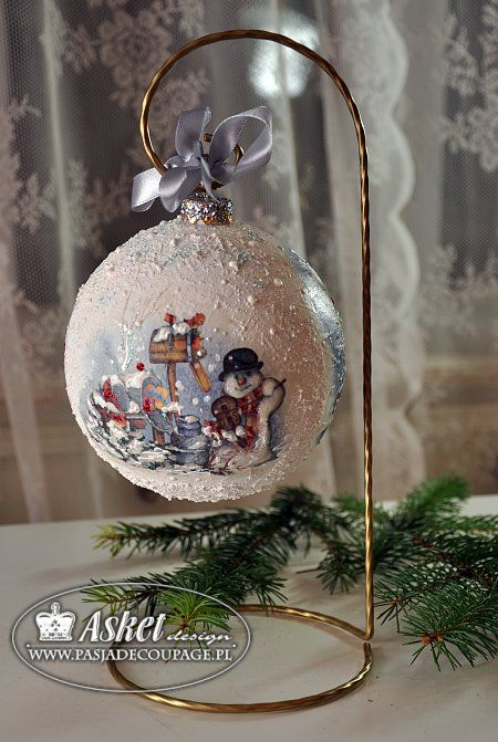 Новый год к нам мчится! Винтажно - декупажные шары!. Обсуждение на LiveInternet - Российский Сервис Онлайн-Дневников