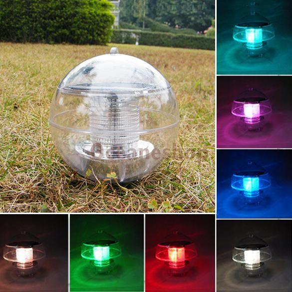 Солнечная энергия изменение цвета из светодиодов плавающий шар света для садовый пруд пути