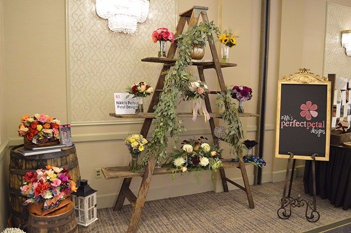 Nikki's Perfect Petal Designs at the Today's Bride Bridal Show | Best Bridal Booth Designs | Bridal Show Booth decor Ideas