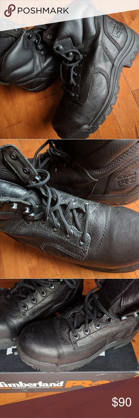 Timberland Pro Series workboots Black Timberland Pro ladies safety shoes. Worn only a few times. Safety toe. EUC Timberland Shoes