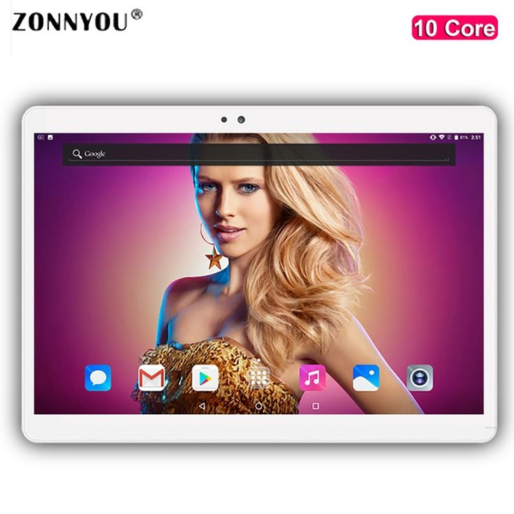 2018 New 10.1 inch Tablet PC Android 7.0 4G Phone call octa core RAM 4GB/64GB 1920x1200 IPS Dual SIM Children's tablets PC
