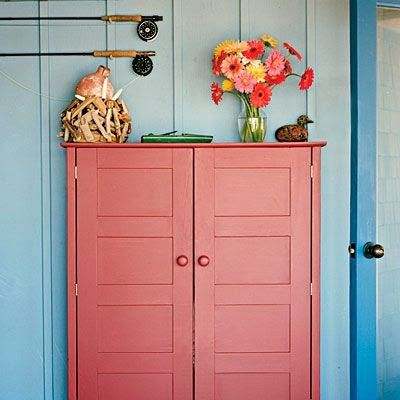 A Blush cabinet using #AmyHoward Finishes.