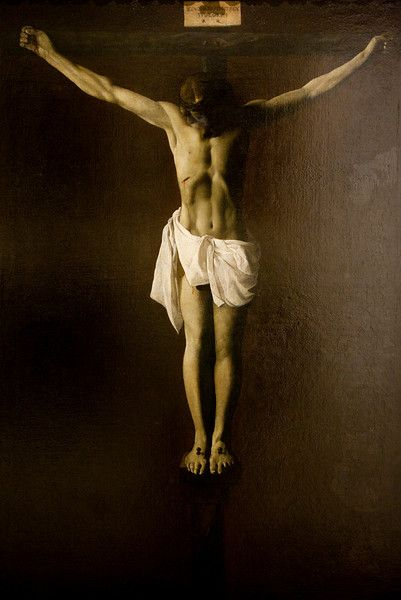 Dead Christ by Francisco de Zurbaran (17th century), Fine Arts Museum, Seville, Spain
