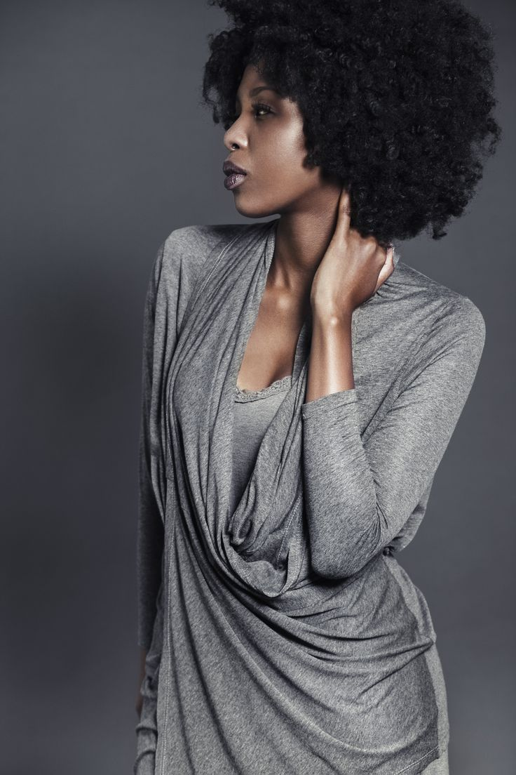 Ladies charcoal melange viscose cardigan draped around the neck. For more information visit: https://www.facebook.com/pengellyclothing or https://www.pengelly.co.za