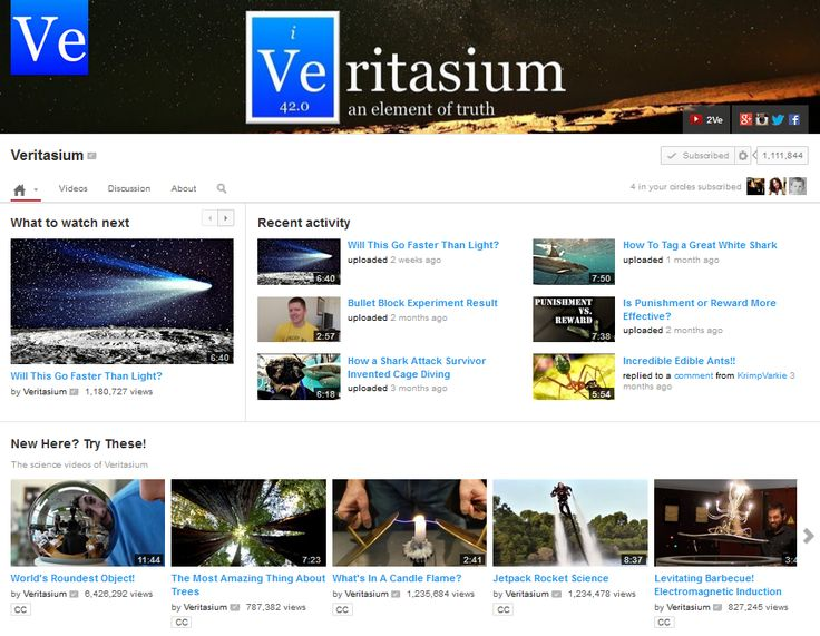 Veritasium - The science video blog from atoms to astrophysics!
