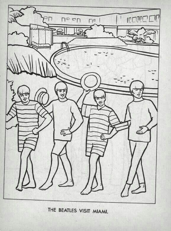 music coloring - Beatles Coloring Book