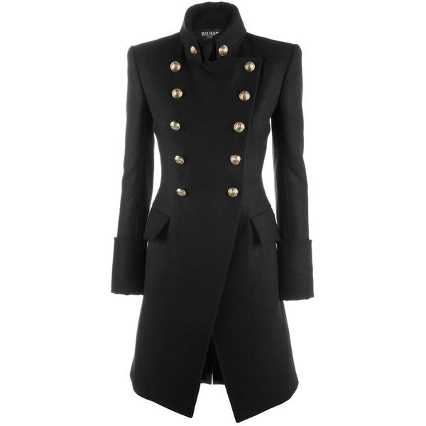 BALMAIN AW10/2900 T016 BLACK CASHMERE/WOOL CAPPOTTO, found on polyvore.com Only $10650 AUD