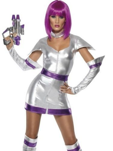 Womens sexy outer space cadet girl halloween costume for Outer space outfit
