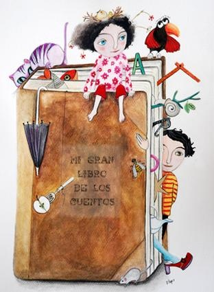 Cóm conviuen els personatges entre diferents contes? / Cómo conviven los personajes entre diferentes cuentos?//il. de Montse Llop