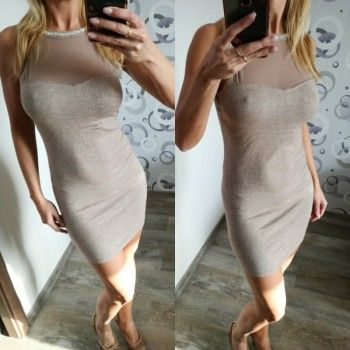 Svetrové šaty bez rukávů