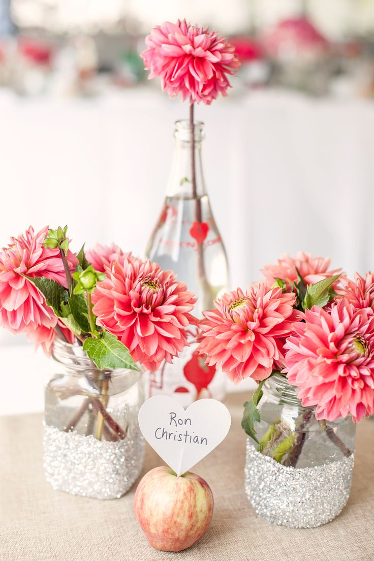 Dahlia Centerpieces by Hoopla Event Design & Styling