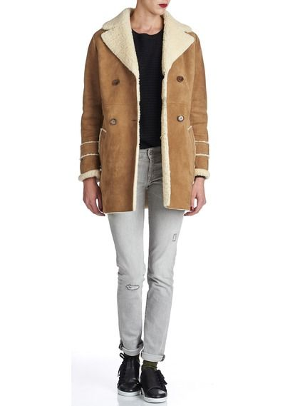 14 best images about manteau on pinterest coats cats - Manteau peau lainee comptoir des cotonniers ...