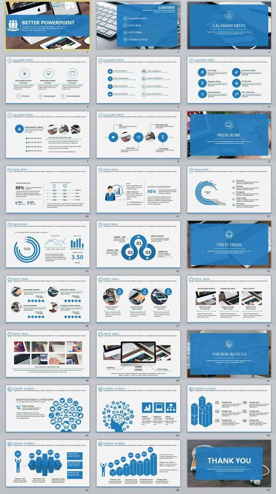 27 better blue professional powerpoint templates infographics