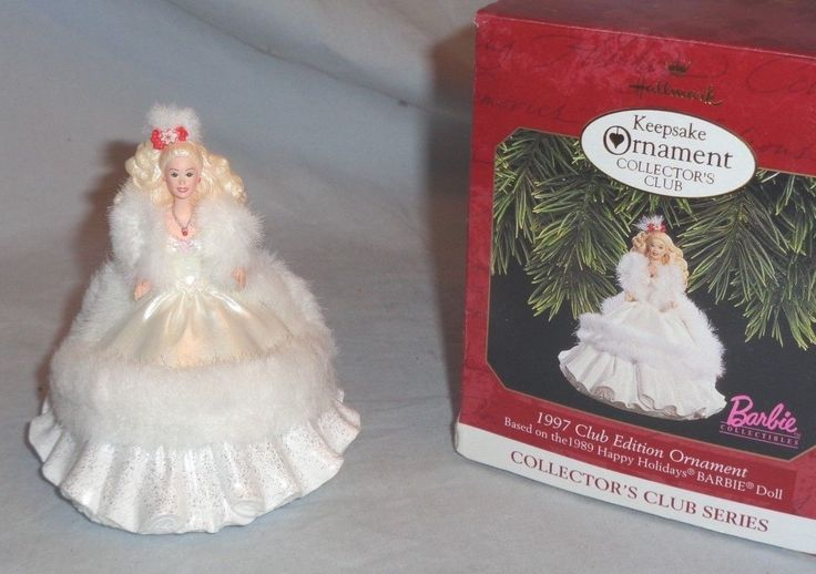Hallmark Keepsake Barbie 1997 Club Edition Ornament Based on the 1989 Happy Holiday Barbie Doll QX5162 2th in the Collector's Club