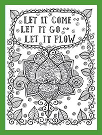 Sample Page Posh Coloring Book Inspirational Quotes For Fun And Relaxation