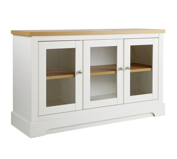 Buy Heart of House Westbury Large Glazed Sideboard - White at Argos.co.uk, visit Argos.co.uk to shop online for Sideboards and dressers, Living room furniture, Home and garden