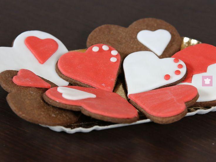 Biscotti di San Valentino al cioccolato