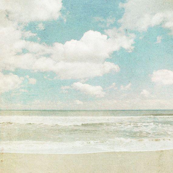 OzeanFotografie Strand Foto powderblue Beige Wellen von bomobob