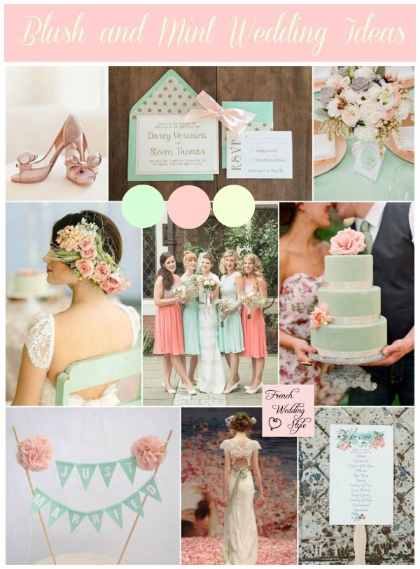 blush and mint wedding ideas love but with Tiffany blue instead of mint