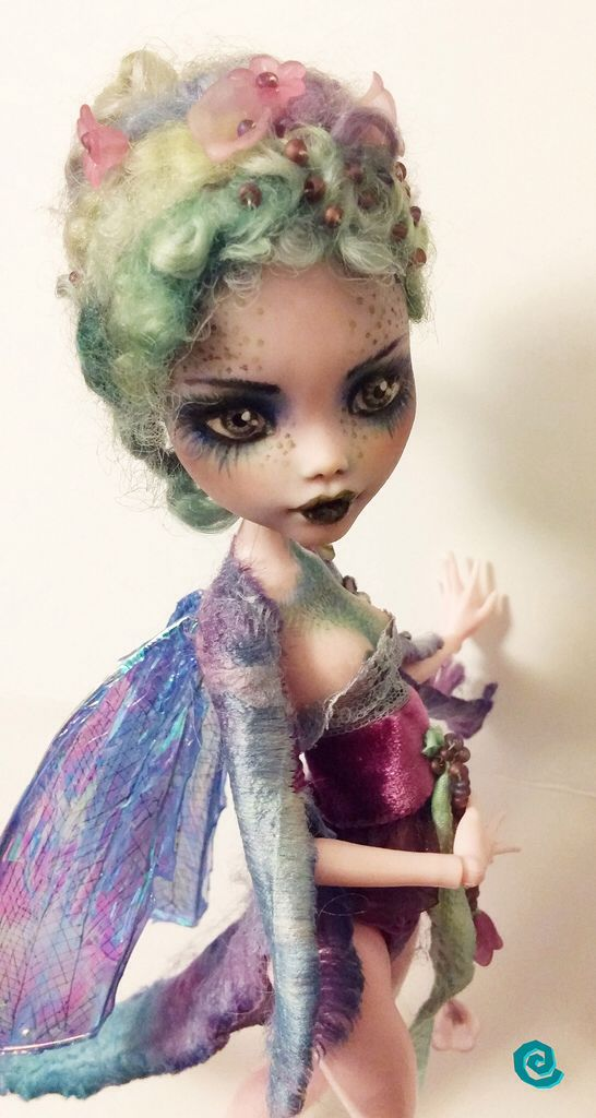 """The Dragonfly"" Custom Monster High doll Draculaura"