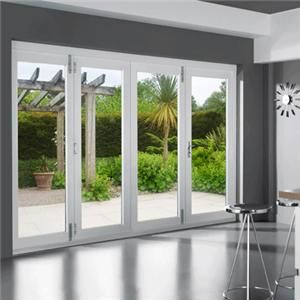 Click to enlarge - VuFold Pre-Finished Hardwood Stained White Bi-Folding Door Set 44mm