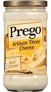 Prego Alfredo Sauce, Artisan Three Cheese, 14.5 Ounce