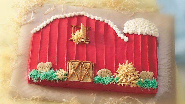 Little Red Barn Cake You'll harvest a bushel of compliments when you serve a cake fashioned to resemble a cute, country barn.