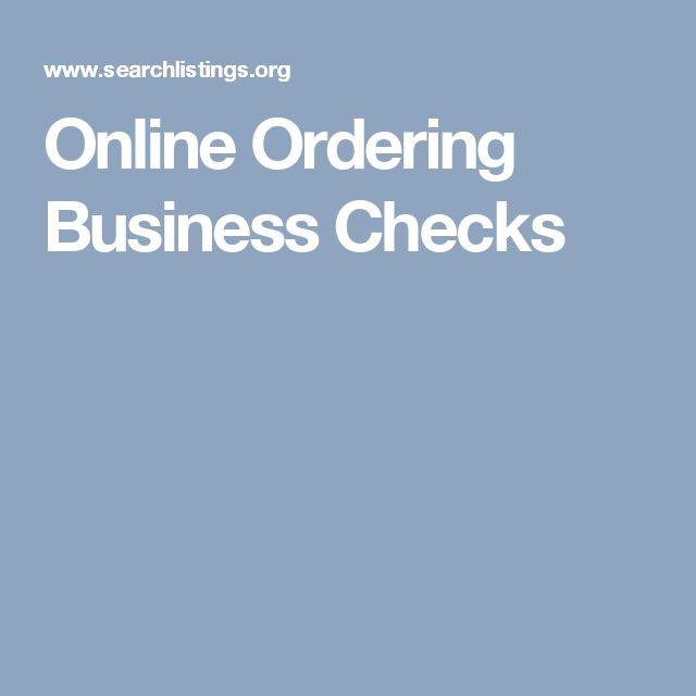 Online Ordering Business Checks