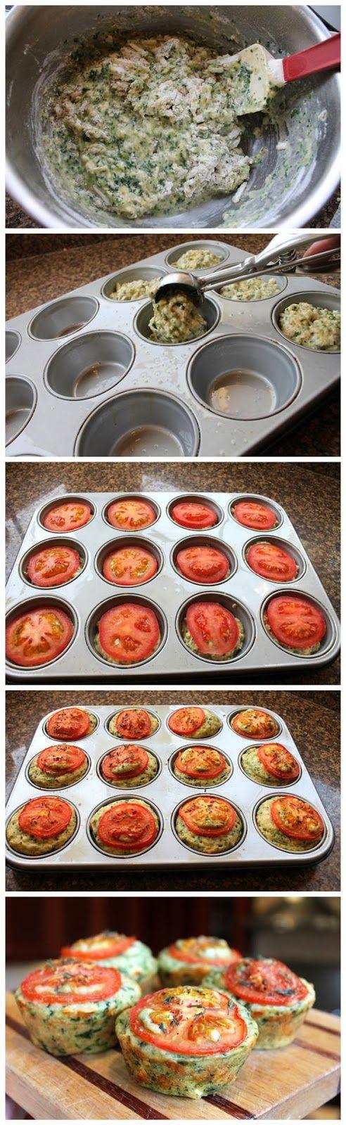 Cheesy Spinach Muffins - RedStarRecipe