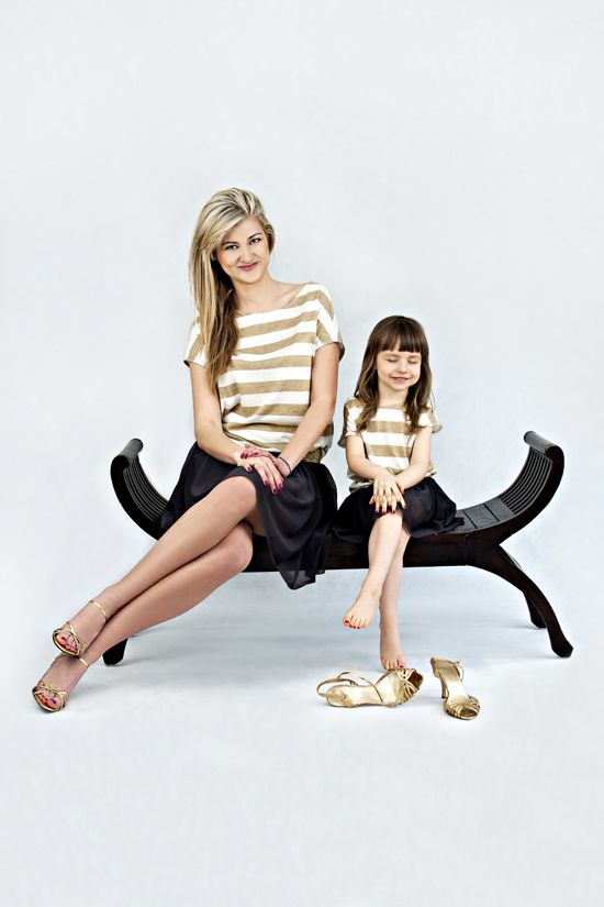 Blouse with gold stripes - 2 pcs - MOTHER AND DAUGHTER SET Set of two oversize summer tops. Wide gold and white stripes will add chic and elegance. Matching mommy and daughter outfits. Shop at www.thesame.eu News at www.facebook.com/... #thesame #shirts #blouse #goldstripes #strips #comfortable #elegant #timelass #ecru #polishfashion #kidsfashion #womanfashion #momandchild #girlfashion #matchingclothes #stylishkids #stylishmother #stylishgirl
