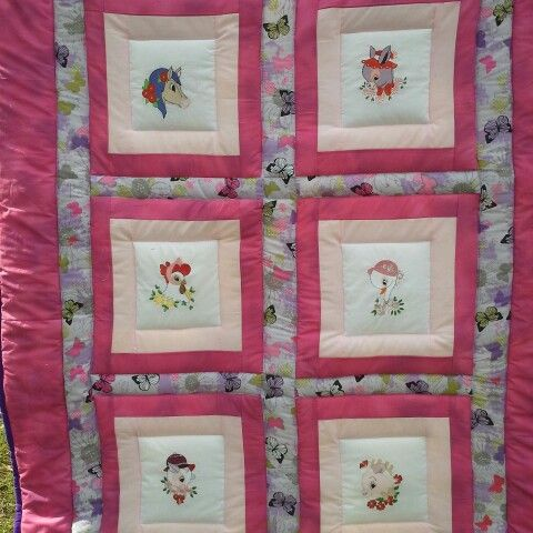 Fun, Farm Animal Quilt,   Handmade and ready, waiting and wanting to give Warmth, Love and Security to its new little owner.  $150.00 including p+h with in australia or pick