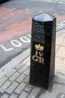 One of our many Royal bollards... (from the Bollards of London blog - love it!)