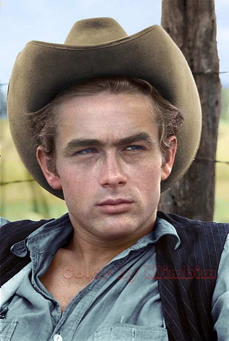 Wonderful colored version James Dean 1955