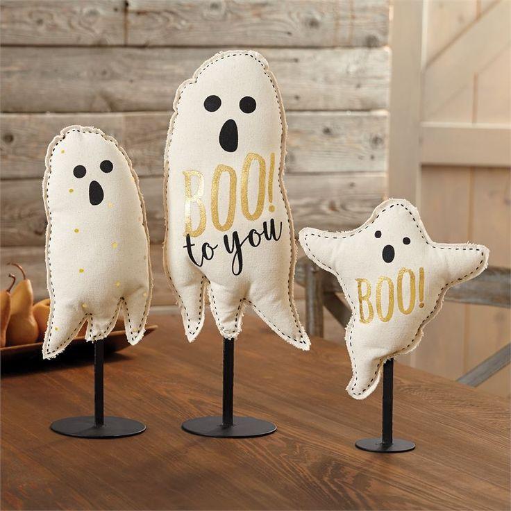 Ghost Canvas Table Sitter | Halloween Home Decor | Pumpkins | Halloween Decorations | Ghost | Ghosts | Home Decor | Boo | Spooky