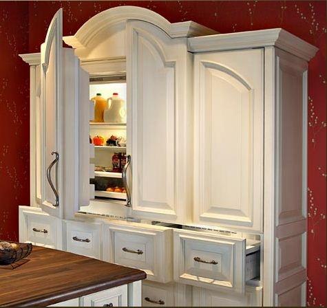 hidden refrigerator #kitchen #refrigerator