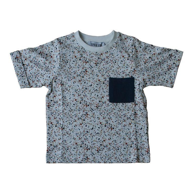 SOYA & SODA t-shirt med terrazzo mønster