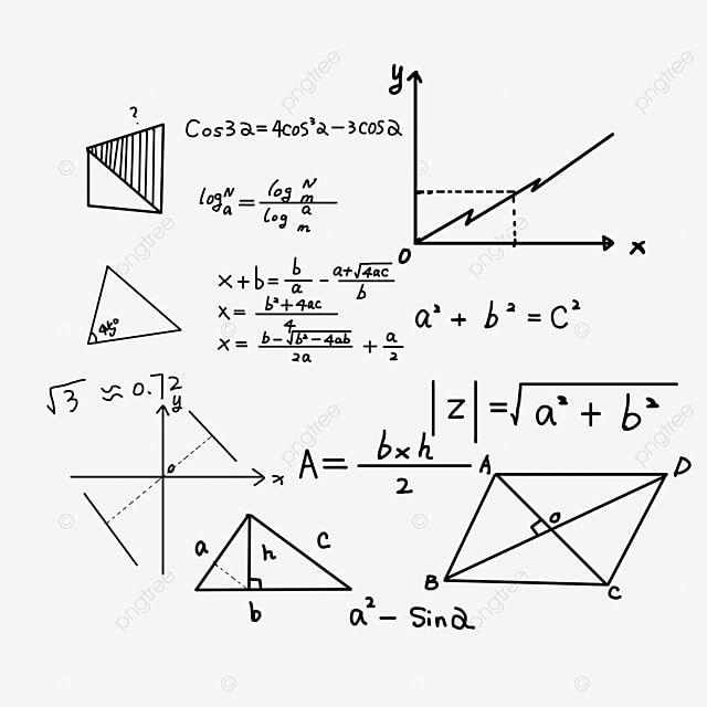 Mathematical Formula Handwriting Equation Png Transparent Clipart Image And Psd File For Free Download Clip Art Teaching Geometry Math Formulas