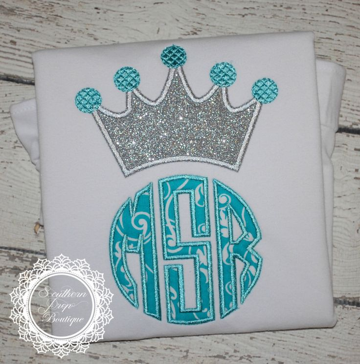 Girl's Crown Monogram Applique shirt - Frozen Birthday Shirt - Princess Monogram by SouthernPrepBoutique on Etsy https://www.etsy.com/listing/224376453/girls-crown-monogram-applique-shirt