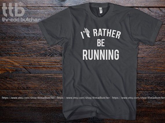 I'd Rather Be Running Marathon printed on Unisex by threadbutcher