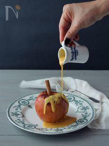 魔女の焼きりんご ハロウィーン風