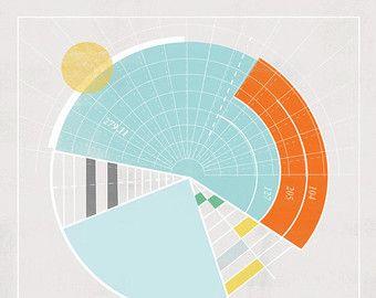 Carte nautique Rayon 12x12in par reconstructingideas sur Etsy