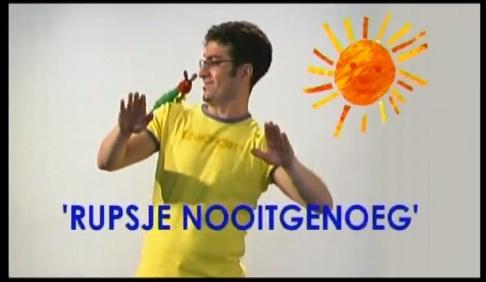 Digitaal prentenboek Ruspje Nooitgenoeg met gebaren!