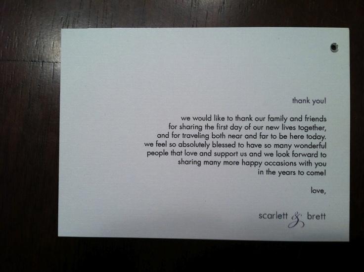 Bride & Groom Thank you