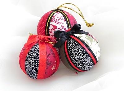 Styrofoam Ball Christmas Ornaments tutorial