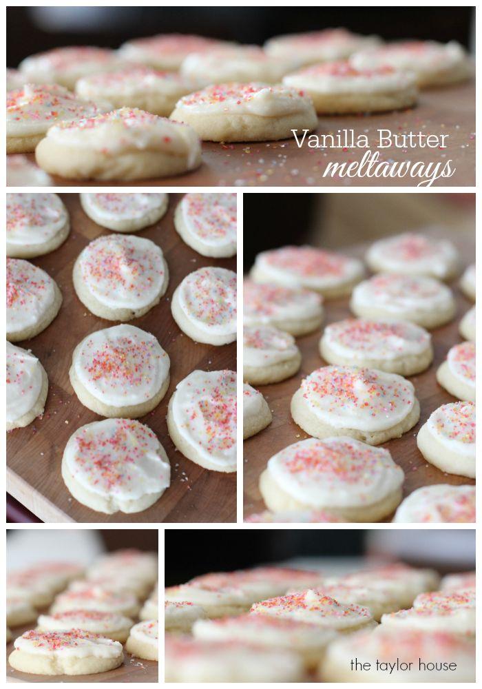 Vanilla Butter Meltaway Sugar Cookie. Ingredients: butter, sugar, egg, vanilla, salt, flour, baking soda and powder