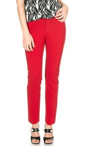 GISELLA RED - COTTON STRETCH PANTS - Shop Now - http://shop.mylookinstyle.com/gisella-cotton-stretch-pants-red/