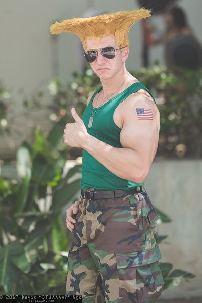 Guile (Street Fighter)   Anime Expo 2017 #Cosplay Photo by DTJAAAAM