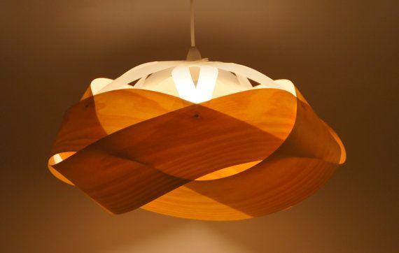 Wood veneer light shade - Large Wrap, 600mm diameter on Etsy, $620.13