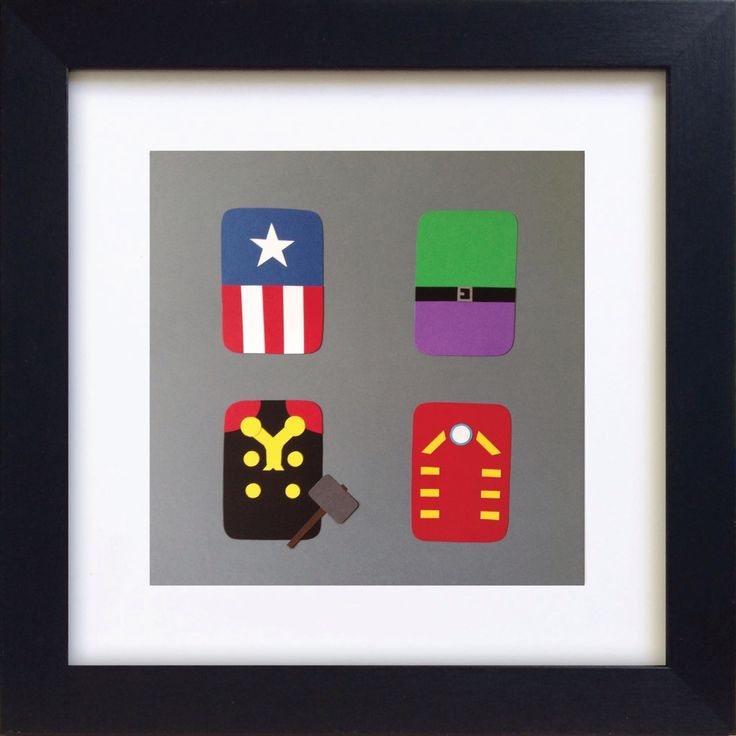 Handmade Minimalist Avengers Poster - Framed
